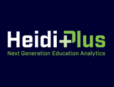 green and dark blue Heidi Plus logo