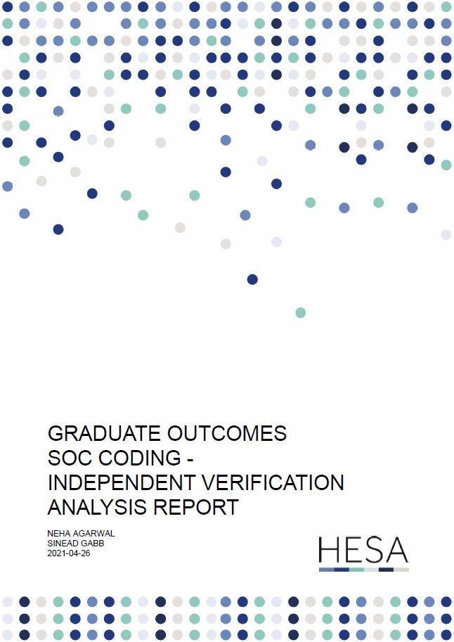 Research paper - Graduate Outcomes SOC coding – Independent Verification Analysis Report