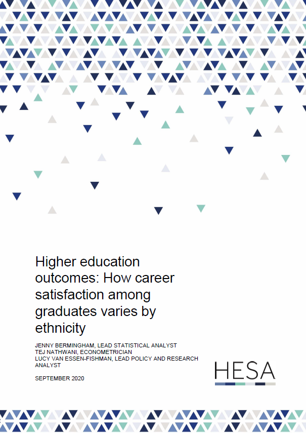 Research paper - Higher education outcomes: How career satisfaction among graduates varies by ethnicity