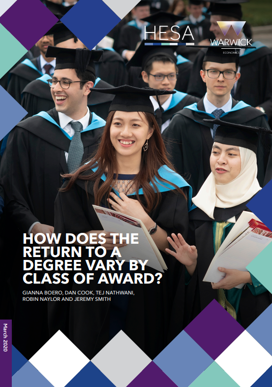 Research paper - How does the return to a degree vary by class of award?