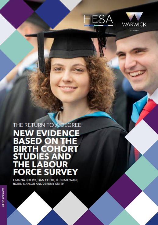 Research paper - The return to a degree: New evidence based on the birth cohort studies and the Labour Force Survey
