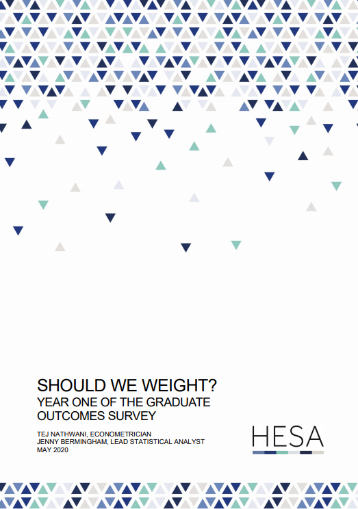 Research paper - Should we weight? Year one of the Graduate Outcomes survey