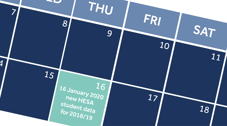 Calendar of HESA releases
