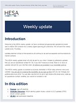 weekly update newsletter