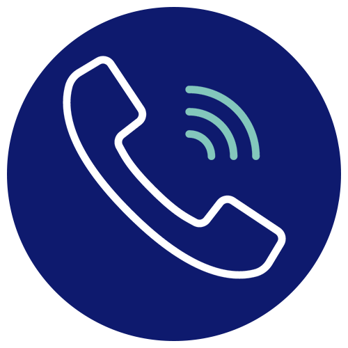 A symbol depicting a ringing telephone.