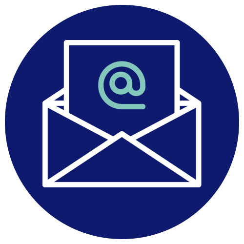 A symbol depicting an email being received.